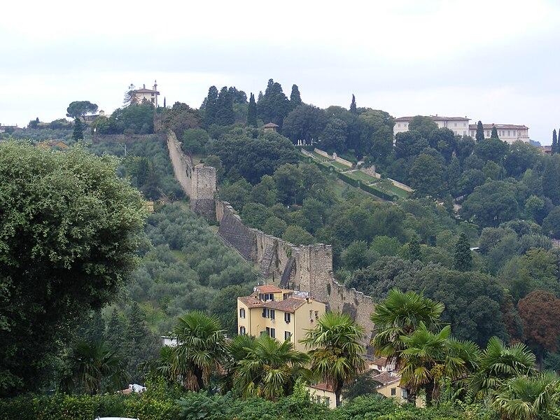Italian Florence: Old Stone Wall Near Piazzale Michelangelo