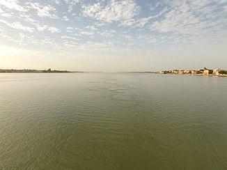 Senegal near the mouth at Saint Louis