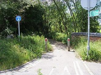 North Hinksey - Footpath and cycleway between Oxford via Ferry Hinksey Road and North Hinksey.
