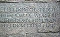 Four Freedoms Wall, Franklin D. Roosevelt Memorial.jpg