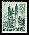 Fr. Zone Rheinland-Pfalz 1948 24 Dom in Worms.jpg