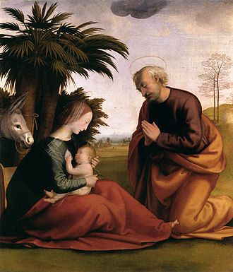 Flight into Egypt - Fra Bartolomeo, Rest on the Flight into Egypt (Pienza)