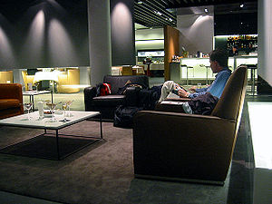 The Lufthansa First Class lounge at Frankfurt ...