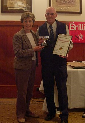 Frances Bedford - Bedford (left) presenting an award in 2006.