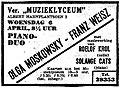 Franz Weisz Olga Moskowsky De Telegraaf April 1938.jpg