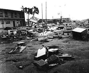 Hurricane Frederic - Damage after Hurricane Frederic in Gulf Shores, Alabama.