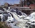 Frederik Collett - Haugsfossen, Waterfall at Modum - Haugsfossen, Modum - Nasjonalmuseet - NG.M.02417.jpg