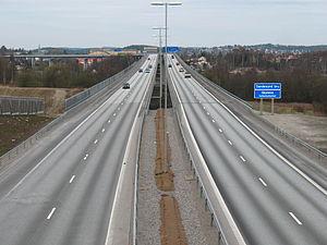 Sannesund Bridge - Sannesund Bridge over E6