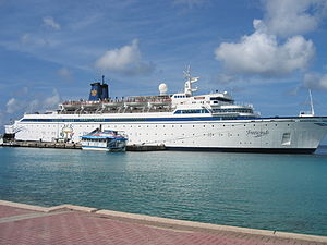 Sea Org - The church's cruise ship, the Freewinds, staffed by Sea Org members