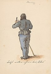 Standing Man from the Back