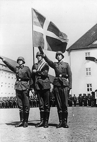 Free Corps Denmark - Danish Free Corps members make an oath in 1941