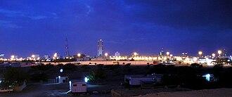 Fujairah - A view of Fujairah at night