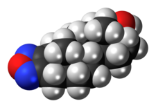 Space-filling model of the furazabol molecule