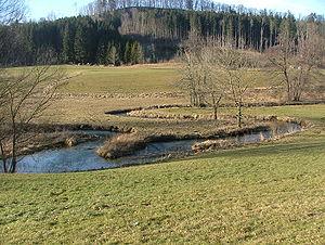 Günz - Meander of the Eastern Günz south of Ronsberg