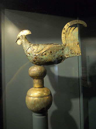 Weather vane - The Gallo di Ramperto, Museo di Santa Giulia in Brescia (Italy), the oldest surviving weather vane in the shape of a rooster in the world