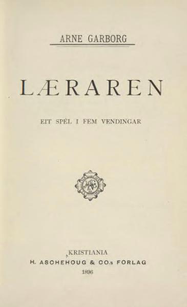 File:Garborg - Læraren.djvu