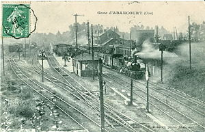 Abancourt, Oise - The Abancourt Station before 1909