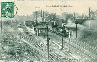 Abancourt, Oise - The Abancourt Station before 1909
