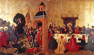 Caspar Isenmann - Image: Gaspard Isenmann, L'Entrée du Christ à Jérusalem, La Dernière Cène