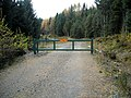 Gate in Loch Ard Forest - geograph.org.uk - 1036706.jpg