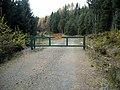 Gate in Loch Ard Forest - geograph.org.uk - 1036706.jpg