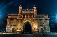 : Gateway of India as seen on a full moon light in a long exposure shot.Author: Vijay Sharma
