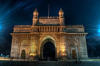 Parinda - The film's climax was shot at the Gateway of India during night.