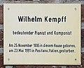 Gedenktafel Mönchenkirchplatz (Jüterbog) Wilhelm Kempff.jpg