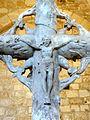 Genainville (95), église Saint-Pierre, ancienne croix de cimetière - Christ en croix 2.JPG