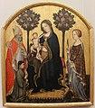 Gentile da fabriano, madonna in trono col bambino, i ss. nicola e caterina e due committenti, 1395-1400 ca. 01.JPG