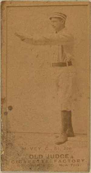 George McVey - Image: George Mc Vey (baseball card 1880s)
