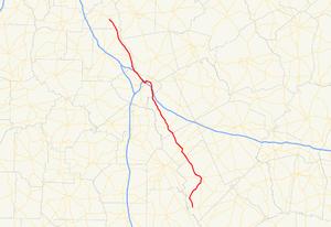 Georgia State Route 87 - Image: Georgia state route 87 map