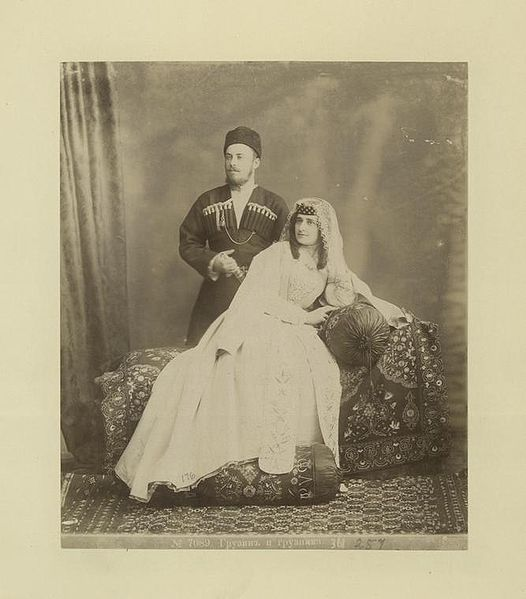 File:Georgian man and woman (Gruzin i gruzinka).jpg