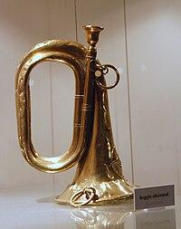 German military trumpet Memorial de Verdun.JPG