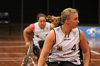 Mareike Miller - Image: Germany vs Japan women's wheelchair basketball team at the Sports Centre(IMG 3478)