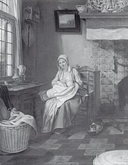 Interior with Nursing Mother