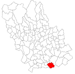 Location within Prahova County