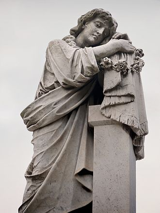 Mountain View Cemetery (Oakland, California) - The statue above Domingo Ghirardelli's mausoleum.