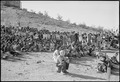 Gila River Relocation Center, Rivers, Arizona. High School students listening to Doctor E. Stanley . . . - NARA - 539441.tif