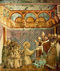 Innocent III confirmant la Règle franciscaine