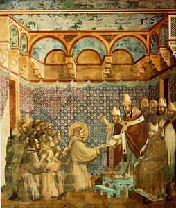 Giotto - Legend of St Francis - -07- - Confirmation of the Rule.jpg
