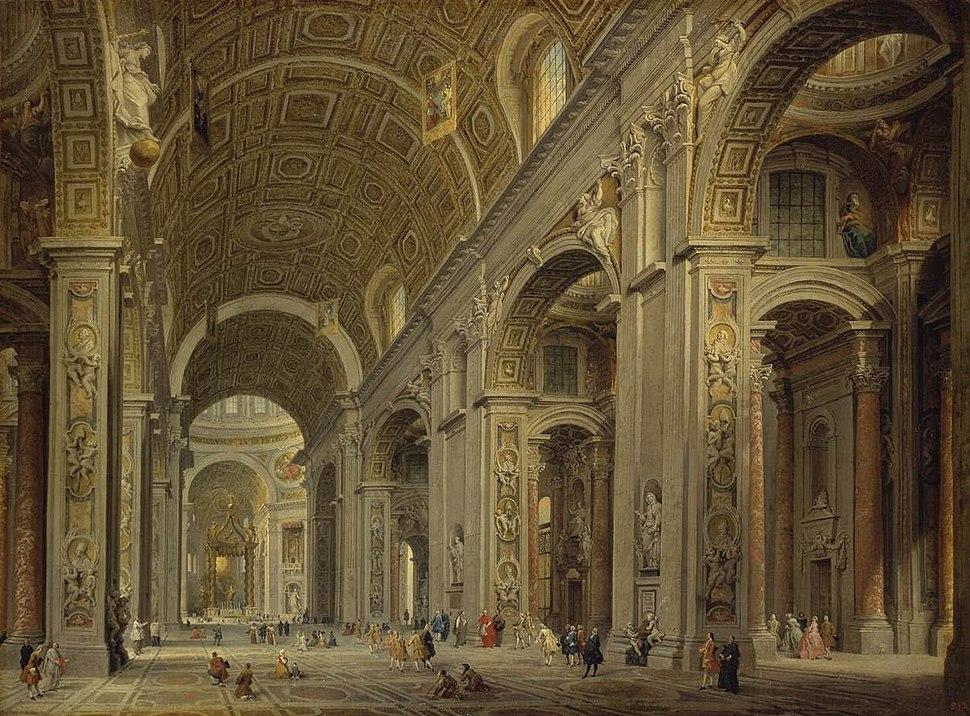 Giovanni Paolo Pannini - Interior of St Peter%27s in Rome - WGA16972