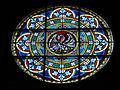 Glasmaleri af Pelikan i Skien Kirke.JPG