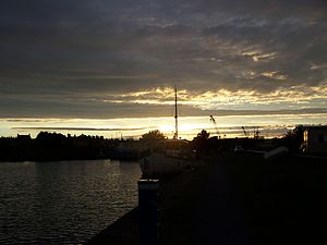 Glasson Dock - Image: Glasson Dock sunset