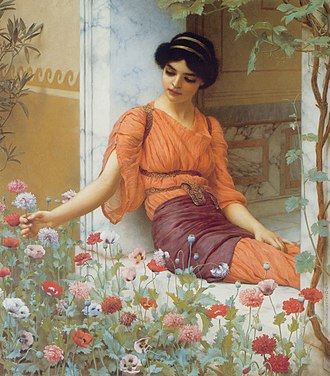 1903 in art - Image: Godward Summer Flowers 1903