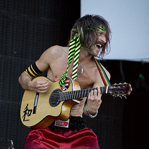 Gogol Bordello - Eugene Hütz in 2012.