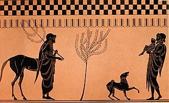 Chiron - Chiron, Peleus and infant Achilles