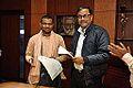 Gour Gopal Das Brahmachary and Chandrakant Das - MoU Exchange - Gaudiya Mission and NCSM - Kolkata 2014-12-14 1344.JPG