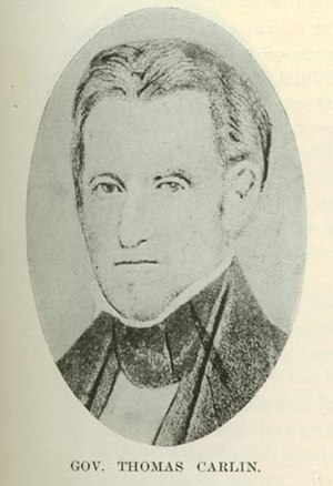 Thomas Carlin - Image: Governor Thomas Carlin