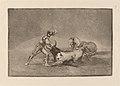 Goya - Un caballero espanol mata un toro despues de haber perdido el caballo.jpg